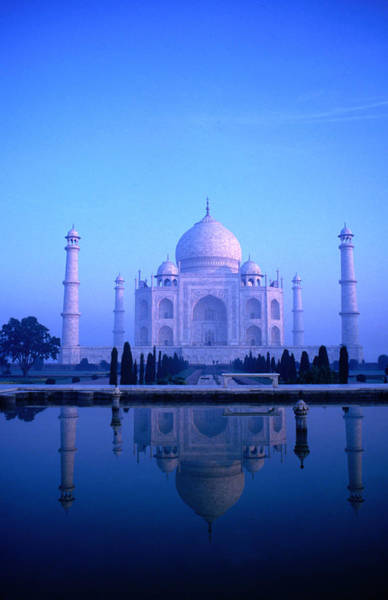 Famous Cemeteries Photograph - The Taj Mahal Bathed In Pastel Dawn by Dallas Stribley