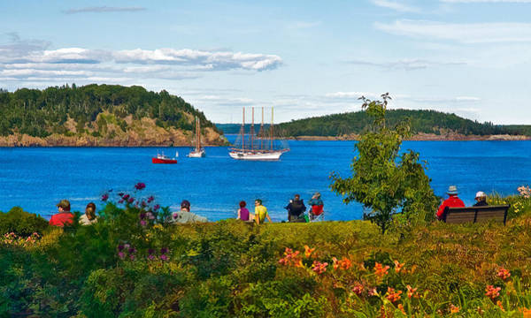 Photograph - Watching The Tall Ships In Bar Harbor by Ginger Wakem