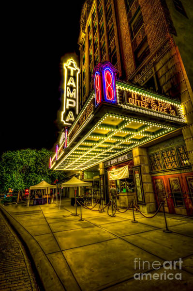 Vintage Neon Sign Photograph - The Tampa Theater by Marvin Spates