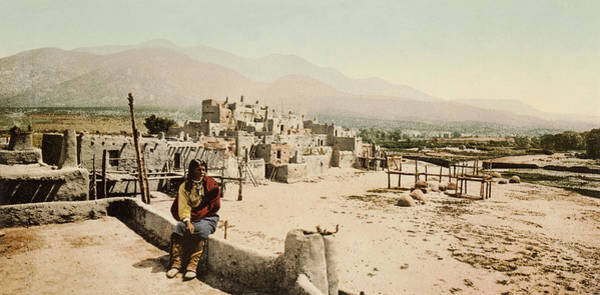 Photograph - The Taos Pueblo by William Henry Jackson