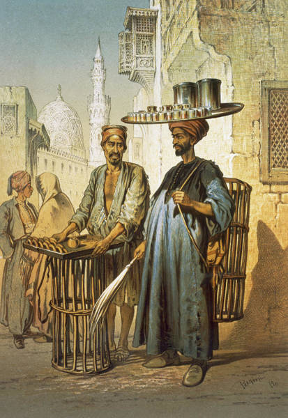 Print Drawing - The Tea Seller by Amadeo Preziosi