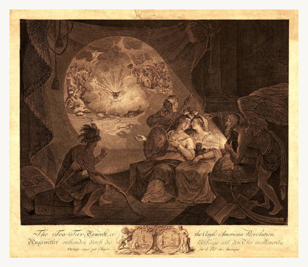 Black Magic Drawing - The Tea-tax-tempest, Or The Anglo-american Revolution by American School