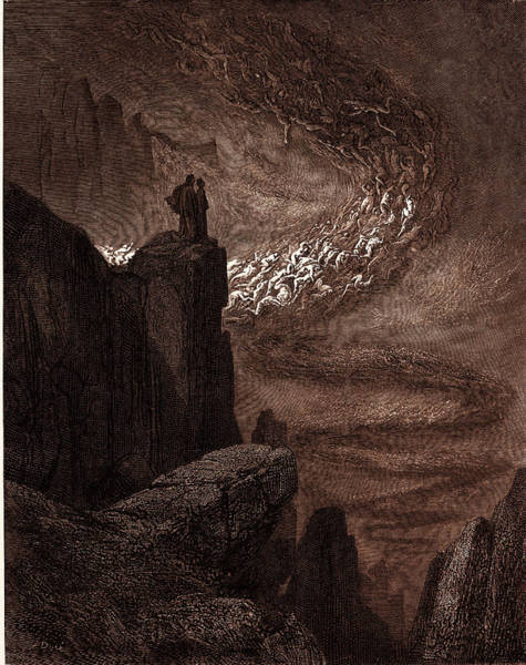 Wall Art - Drawing - The Tempest Of Hell by Litz Collection
