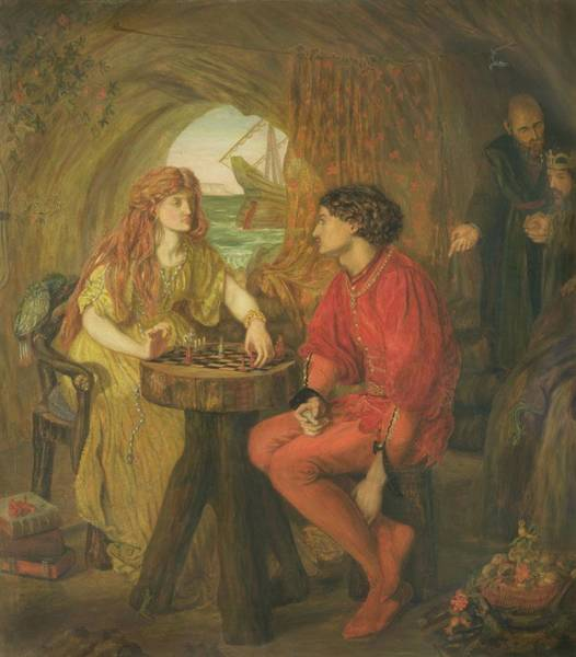 Ferdinand Photograph - The Tempest Oil On Canvas by Lucy Madox Brown