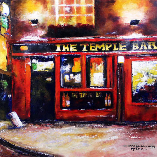 Temple Bar Wall Art - Painting - The Temple Bar by Marti Green