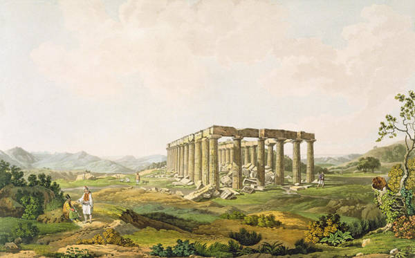Columns Drawing - The Temple Of Apollo Epicurius, Plate by Edward Dodwell