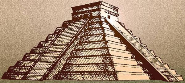 Chichen Digital Art - The Temple Of Kukulcan Chichen Itza   by Del Gaizo
