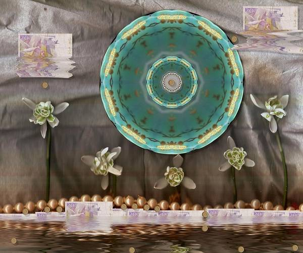Temple Mixed Media - The Temple Of Mammon by Pepita Selles
