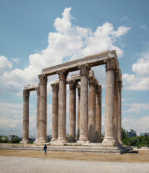 Ancient Greek Photograph - The Temple Of Olympian Zeus, Athens by Ed Freeman