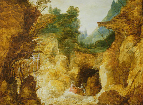 Hunger Painting - The Temptation Of Christ by Joos or Josse de, The Younger Momper