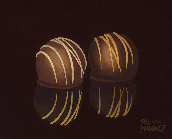Candy Painting - The Temptations by Del Malonee