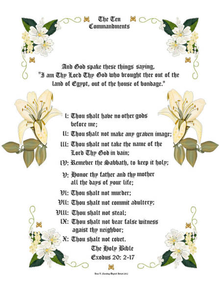 Wall Art - Painting - The Ten Commandments by Anne Norskog