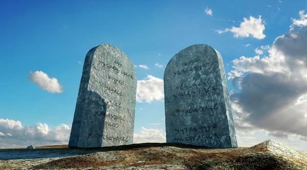 Hebrews Photograph - The Ten Commandments by Leonello Calvetti