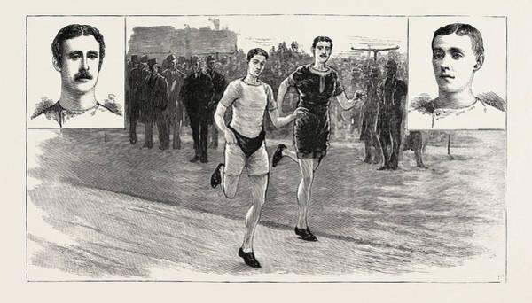 Stamford Bridge Wall Art - Drawing - The Ten-mile Race At Lillie Bridge Between W by English School