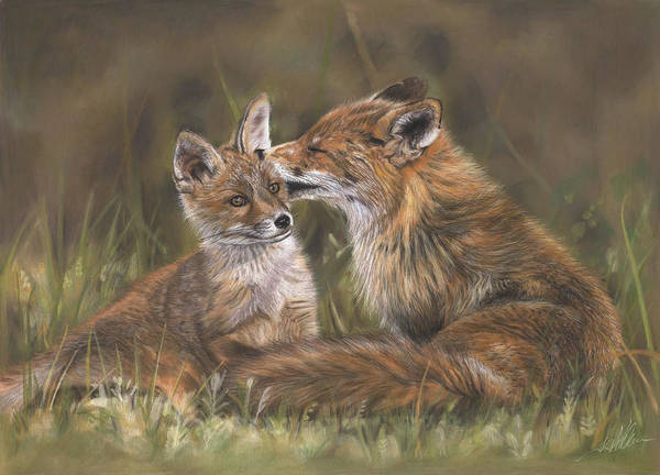Painting - The Tender Nudge by Terry Kirkland Cook