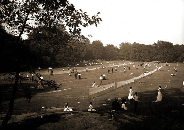Wall Art - Drawing - The Tennis Courts, Central Park, New York, Tennis by Litz Collection