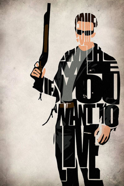 101 Digital Art - The Terminator - Arnold Schwarzenegger by Inspirowl Design