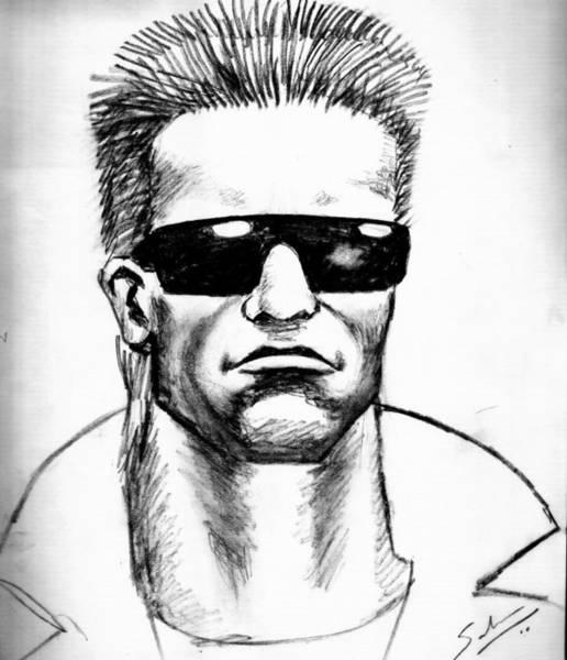 Wall Art - Painting - Arnold Schwarzenegger by Salman Ravish