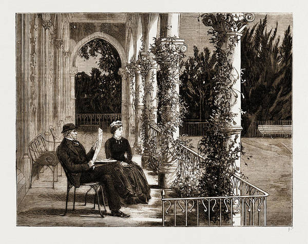 Gladstone Wall Art - Drawing - The Terrace Connecting Mr by Litz Collection