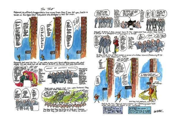 October 5th Drawing - The Test by Jules Feiffer