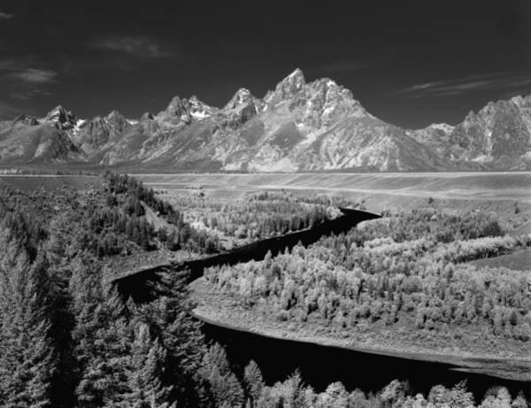 Photograph - 309217-the Teton Range From Snake River Overlook by Ed  Cooper Photography