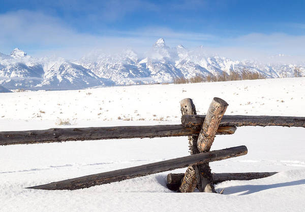 Photograph - The Teton Range by Michael Chatt