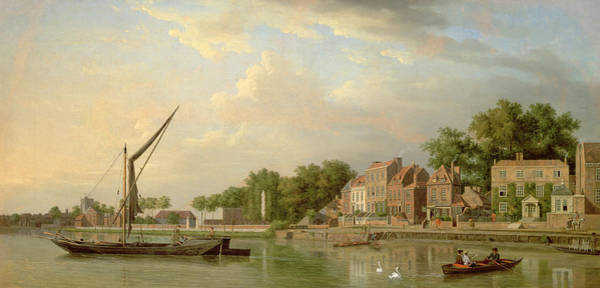 Rowing Wall Art - Painting - The Thames At Twickenham, 18th Century by Samuel Scott