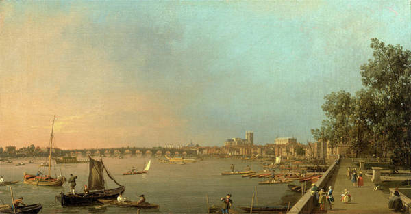 Wall Art - Painting - The Thames From The Terrace Of Somerset House, Looking by Litz Collection