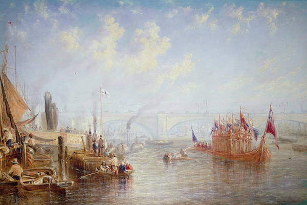 Rowing Wall Art - Photograph - The Thames Near London Bridge Oil On Canvas by Francis Moltino
