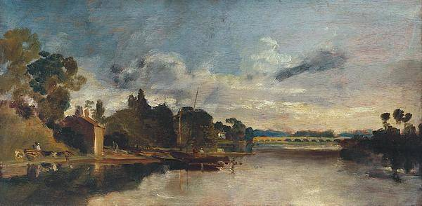 1805 Painting - The Thames Near Walton Bridges by JMW Turner