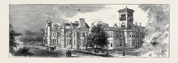 Wall Art - Drawing - The Theft Of The Earl Of Crawfords Body Dunecht House by English School