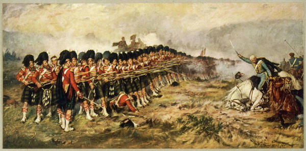 Wall Art - Drawing - The 'thin Red Line' Of The  93rd by Mary Evans Picture Library