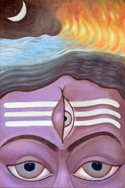 Usha Painting - The Third Eye  by Usha Shantharam
