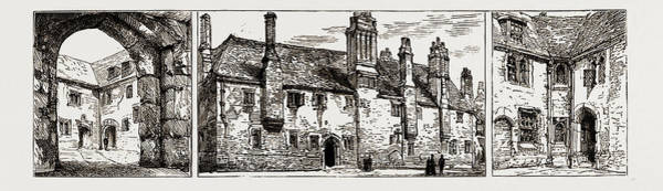 Angle Drawing - The Threatened Demolition Of The Charterhouse by Litz Collection