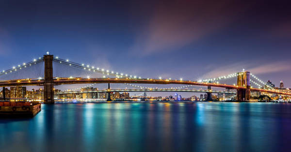 Photograph - The Three Bridges by Mihai Andritoiu