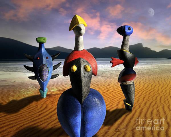 Digital Art - The Three Graces by Edmund Nagele