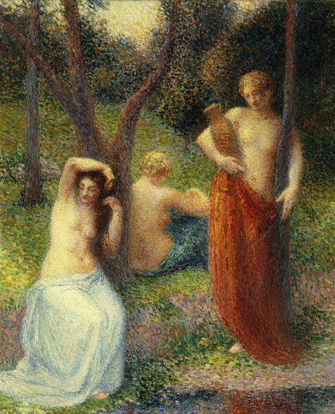 Grace Painting - The Three Graces by Hippolyte Petitjean