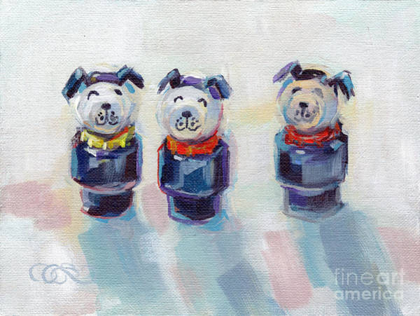 Wall Art - Painting - The Three Musketeers by Kimberly Santini