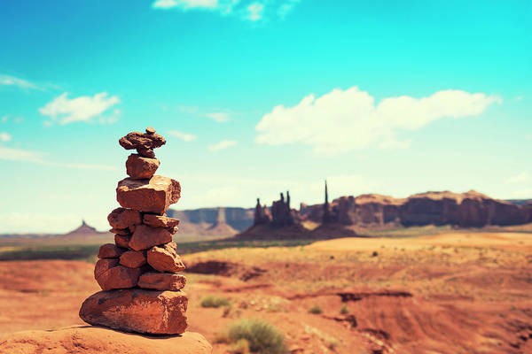 Wall Art - Photograph - The Three Sister On Monument Valley by Franckreporter