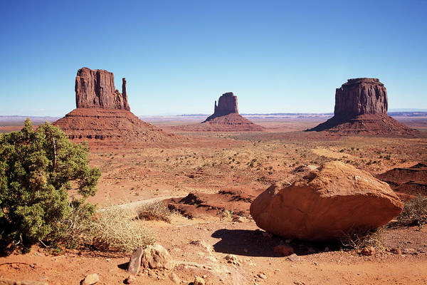 Geology Photograph - The Three Sisters At Monument Valley by Focus on nature