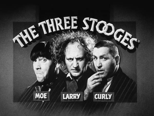Martian Wall Art - Digital Art - The Three Stooges Opening Credits by Official Three Stooges