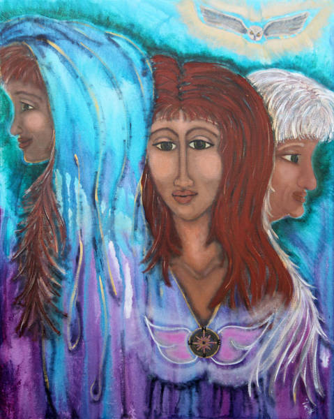 Crone Wall Art - Painting - The Three by Wendy Hassel