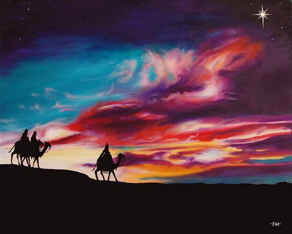 Star Of Bethlehem Painting - The Three Wise Men by Sheri Wiseman