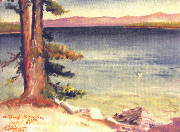 Painting - The Thumb At Yellowstone Lake by Art By Tolpo Collection