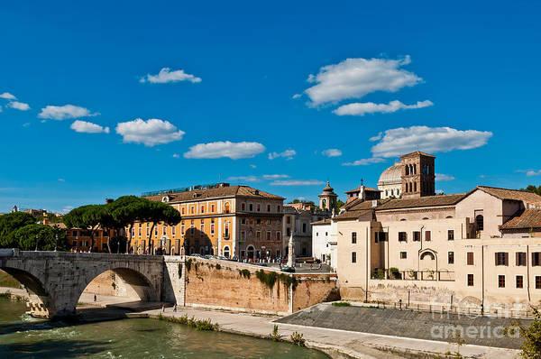 Tiber Island Wall Art - Photograph - The Tiber Island In Rome by Luis Alvarenga