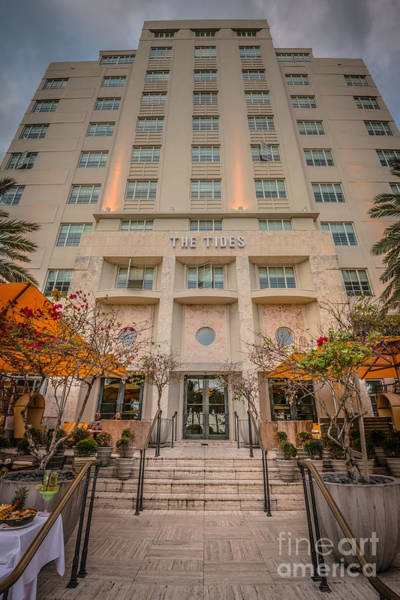 Dixon Photograph - The Tides Art Deco Hotel South Beach Miami - Hdr Style by Ian Monk