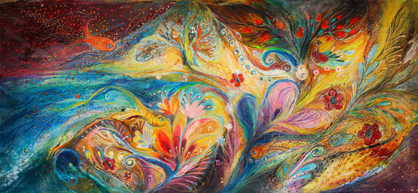 Chupah Wall Art - Painting - The Timeless Characters by Elena Kotliarker