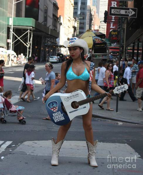 Wall Art - Photograph - The Times Square Naked Cowgirl by John Telfer