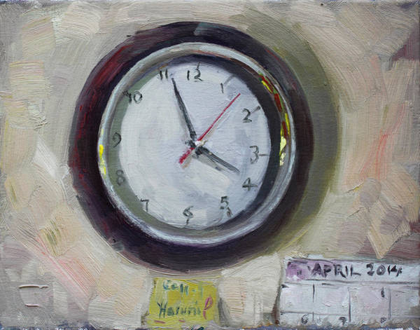 Clock Wall Art - Painting - The Times by Ylli Haruni