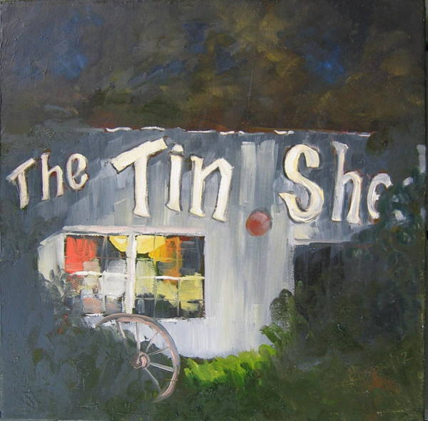 Wall Art - Painting - The Tin Shed by Susan Richardson